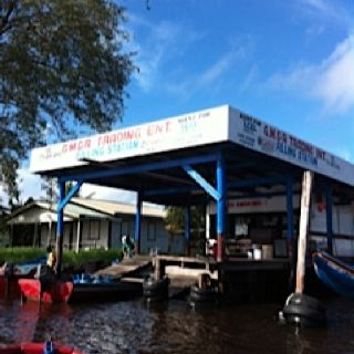 Boat gas station- Pomeroon river