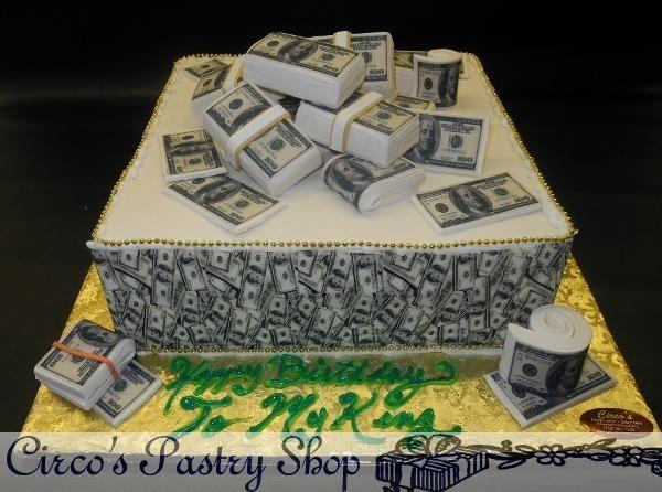 Money Fondant Birthday Cake With Images Fondant Cakes Birthday