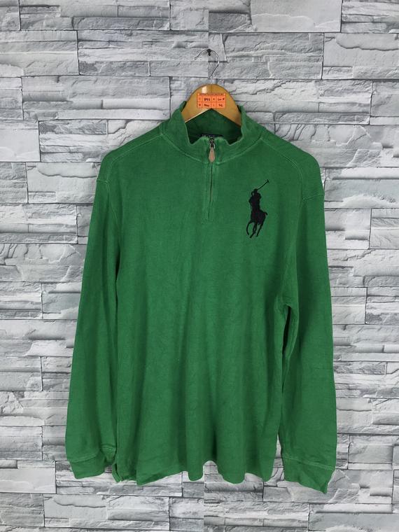 8873722283fb Vintage 90s Polo RALPH LAUREN Sweater Jumper Medium Ralph Lauren Pony Green  Pullover Sportswear HipH
