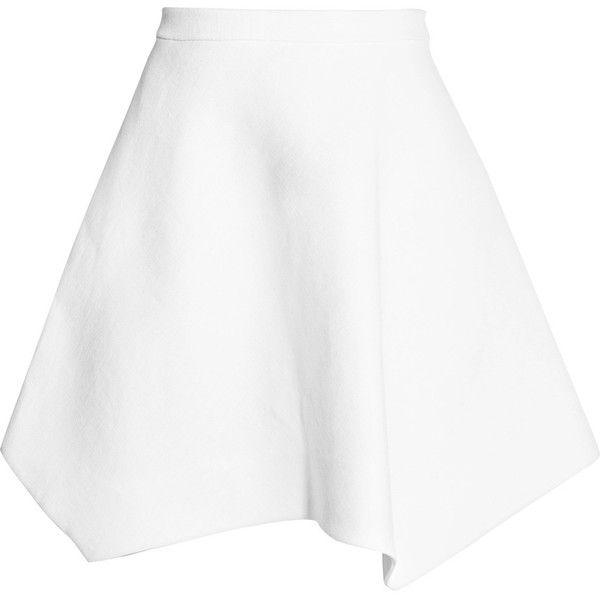 DELPOZO Linen mini skirt (12,390 MXN) ❤ liked on Polyvore featuring skirts, mini skirts, white, delpozo, linen skirts, white linen skirt, mini skirt and white short skirt