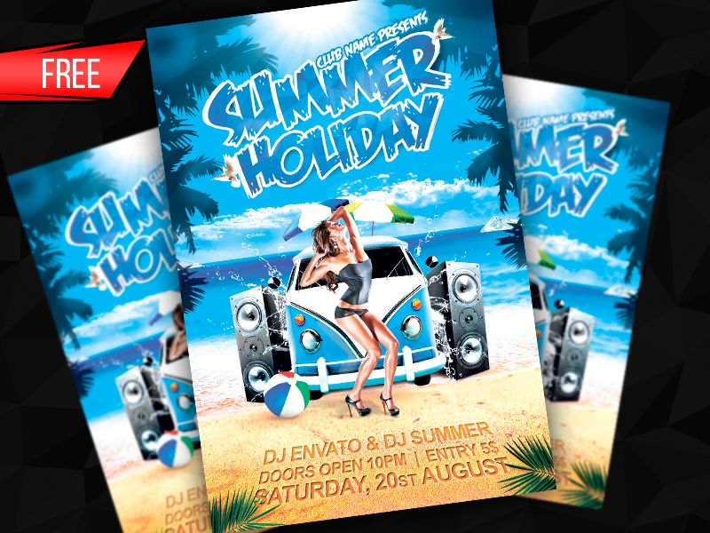Free Summer Holiday Flyer Template Psd By AlexyankoDeviantart