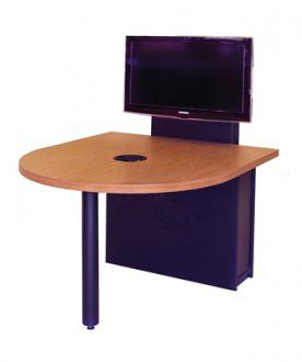 MCDST X DShaped Video Conference Table In Wilson Art Asian - D shaped conference table