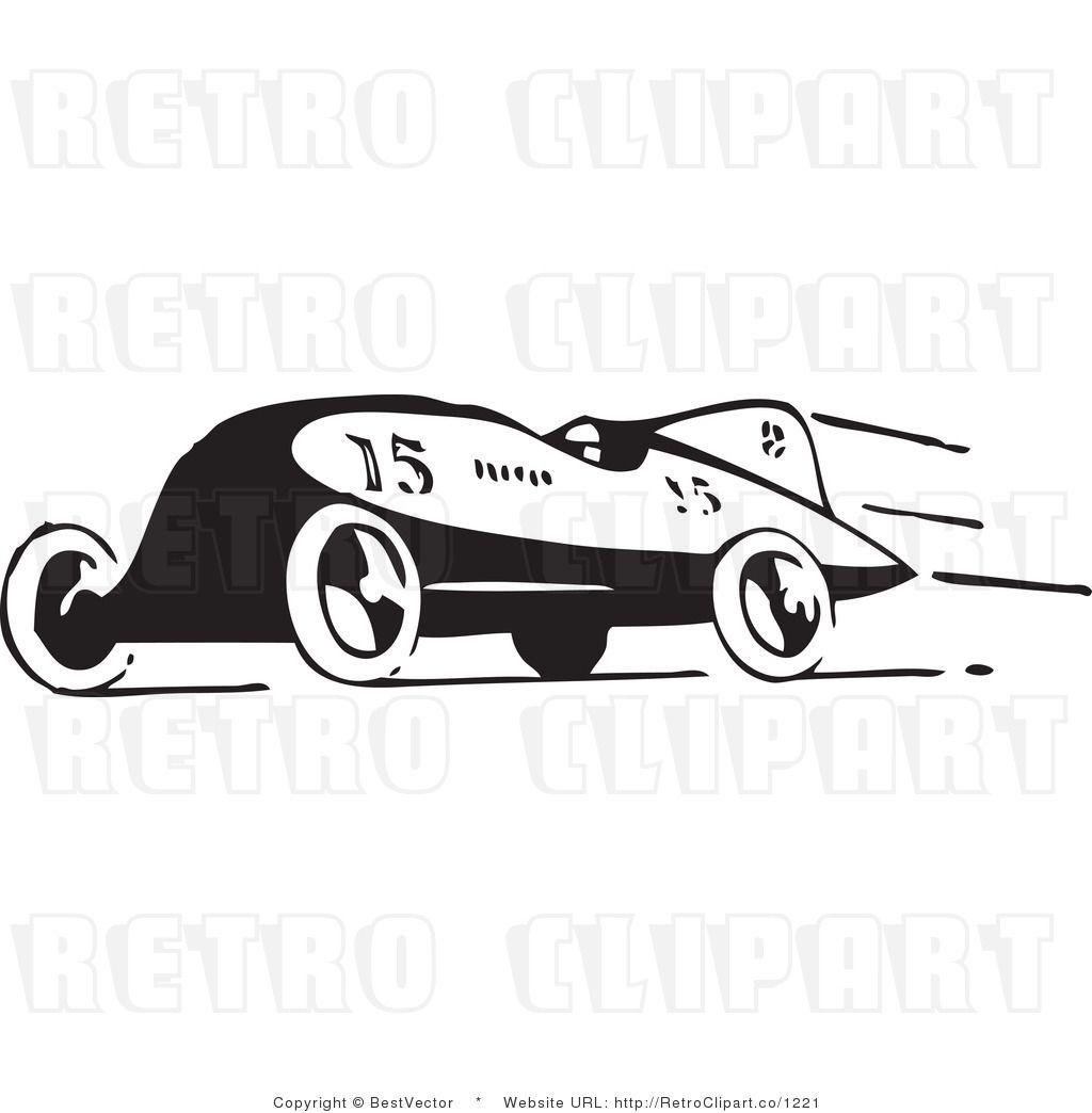 27++ Free vintage race car clipart information