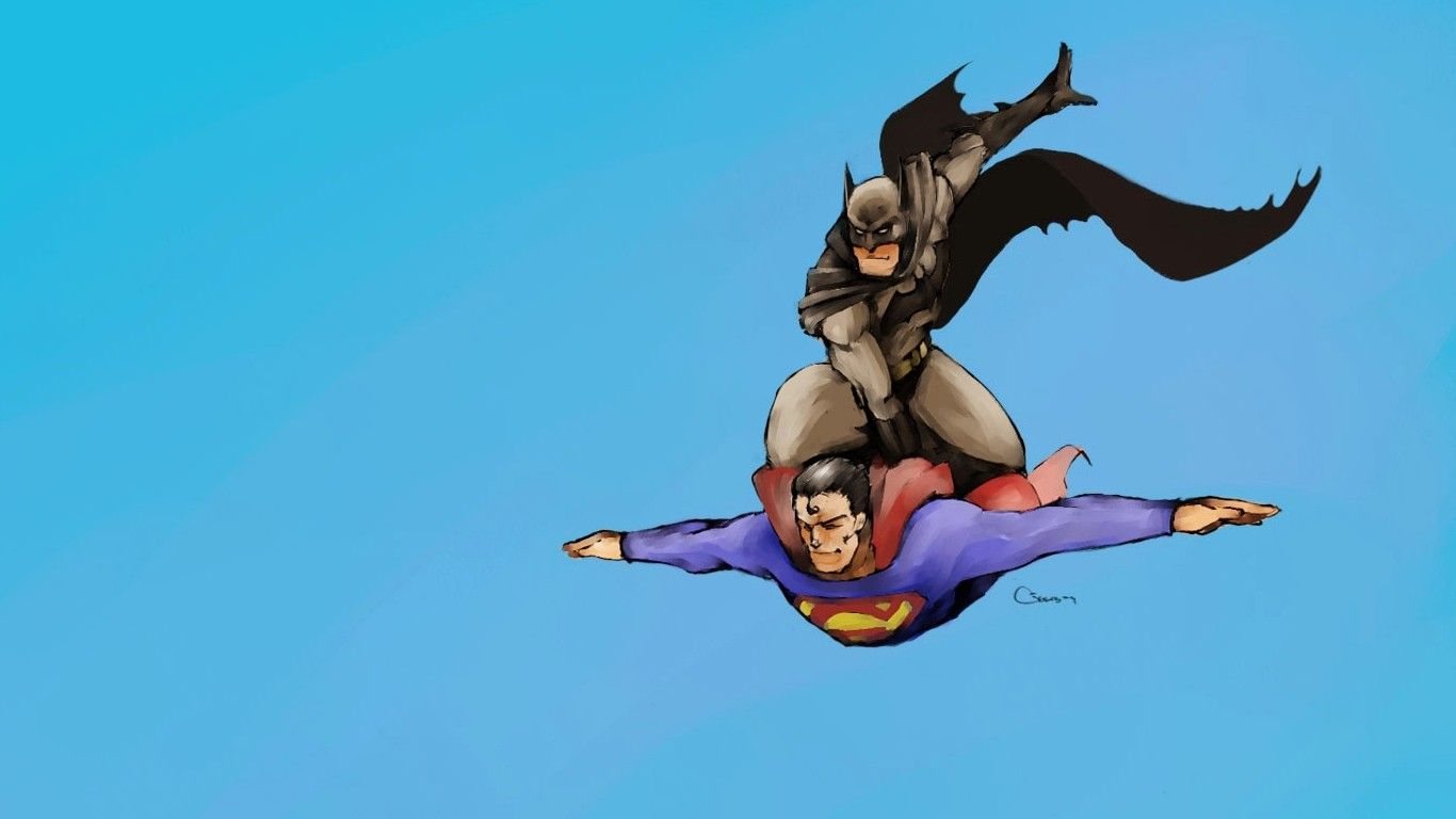 general 1366x768 superman batman fotke za majice