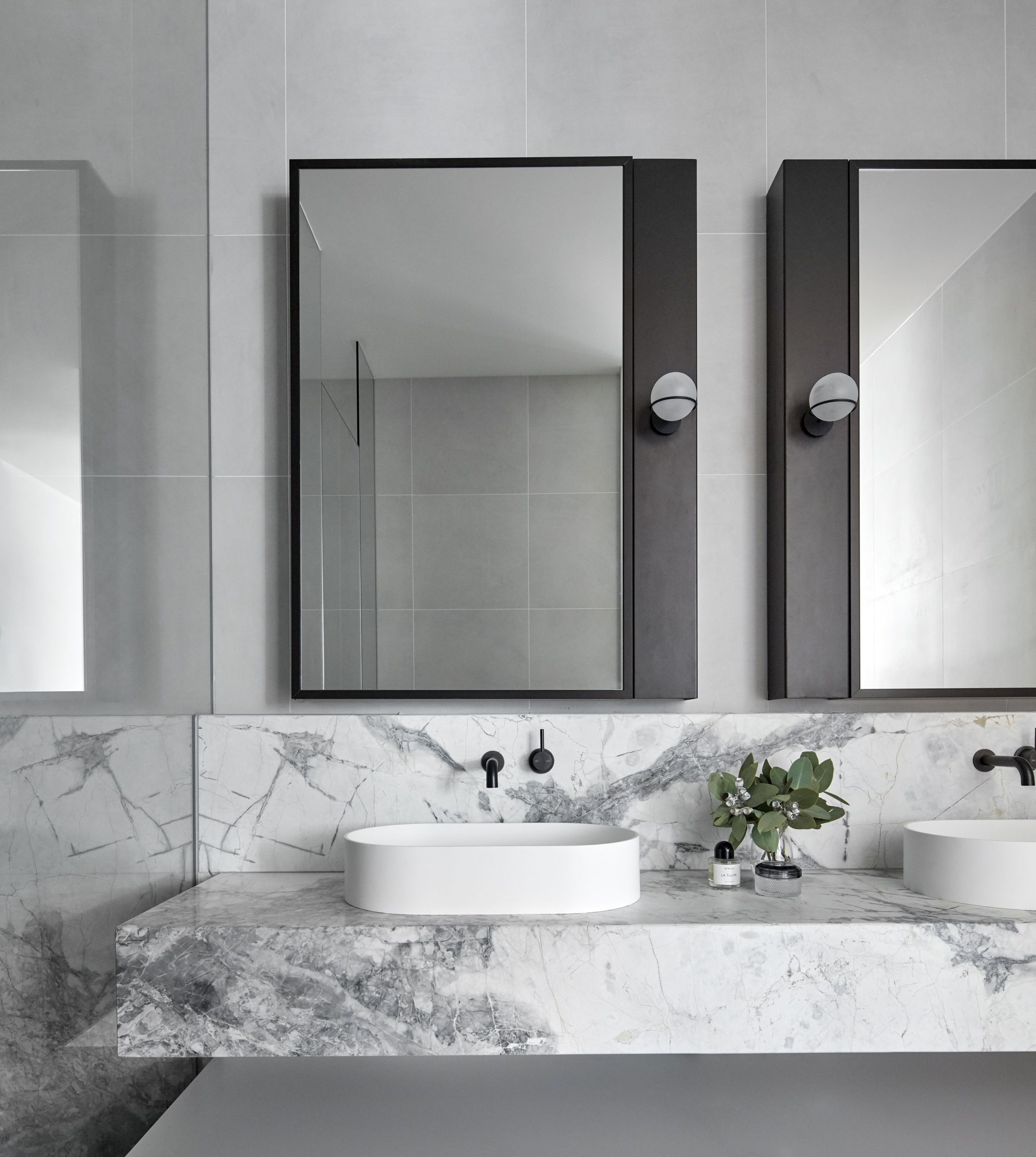 Grey And White Marble Bathroom: Mim Design. Photography By Peter
