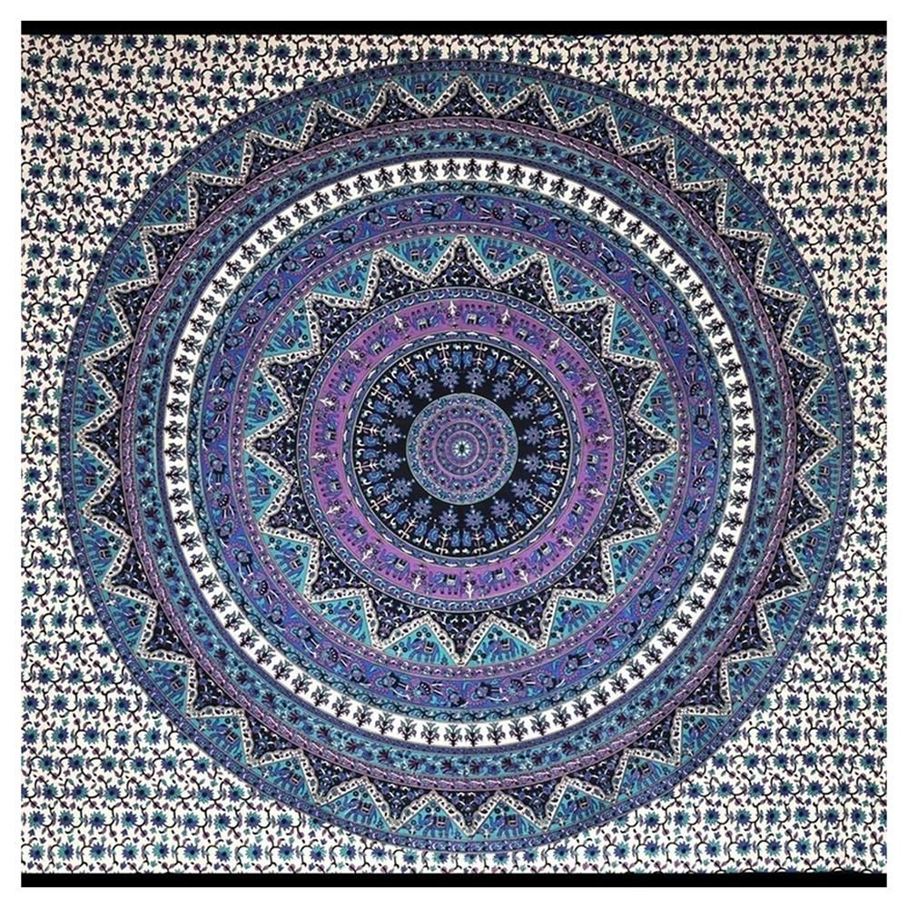 Buy Gold Nights Mandala In Purple Wall Tapestry By Nika Worldwide