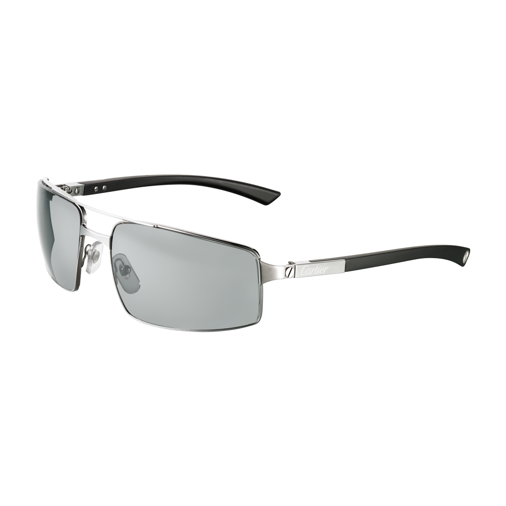 493f295f646 Santos de Cartier rimmed sunglasses - Ruthenium finish