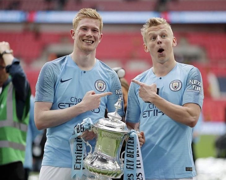 Zinchenko and De Bruyne 💙⚽️💙 FA Cup winners 2019 Manchester City 6 Watford 0!!!   Manchester ...