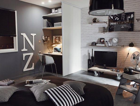 Chambre ambiance industrielle | Chambre ado | Pinterest ...