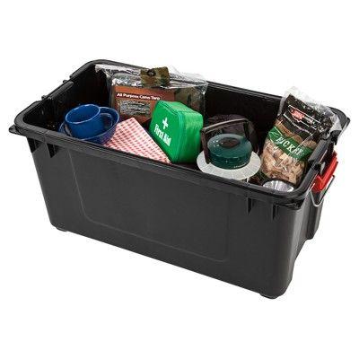 Warehouse Storage Bins   Iris 82qt Heavy Duty Plastic Storage Bin 4pk, Black  U0026 Red, Gray... #Warehousestorage #Bins