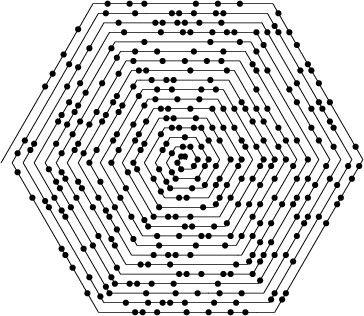Prime Number Hex Ulam Spiral