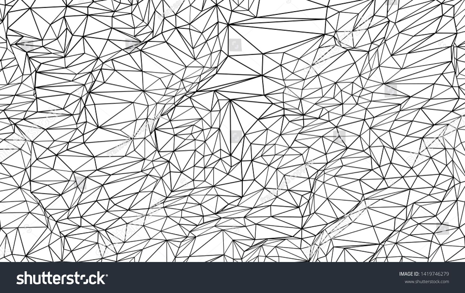 Black And White Plexus Abstract Background 3d Render Sponsored