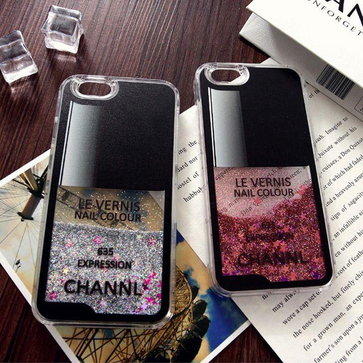 3146645086 韓流ブランド きらきらで動いて iphone xケース シャネル風 iphone8ケース 可愛い 流砂