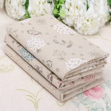 Dandelion Cotton Linen Fabric Patchwork For DIY Tablecloth Bed Cover at Banggood    US$ 3.51