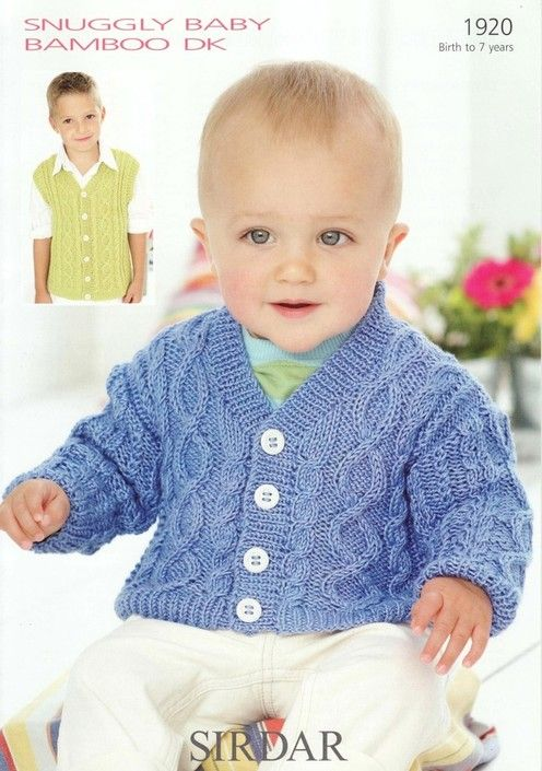 Sirdar--Cardigan & Waistcoat (6 mos. - 7 years) | Knitting For The ...