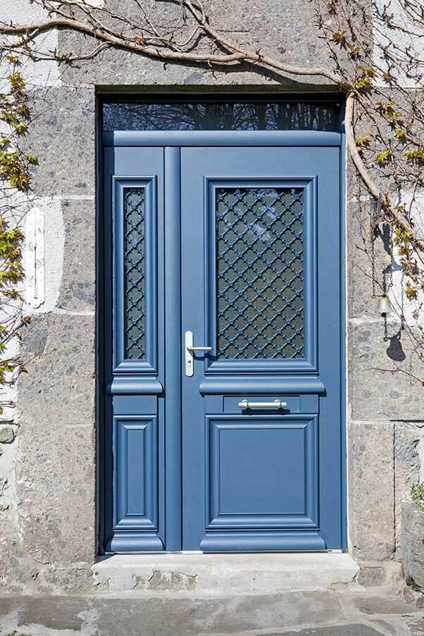 Porte D Entree Design Classique En Aluminium Avec Semi Fixe Et