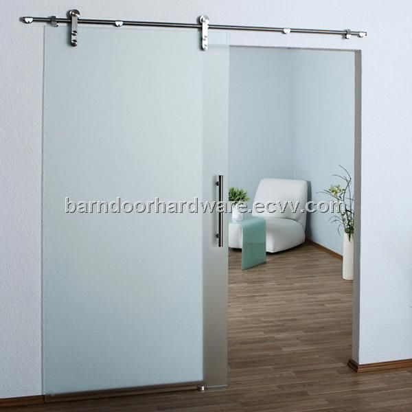 Modern Stainless Barn Style Sliding Glass Door Hardware JY 004 Bath Remodel