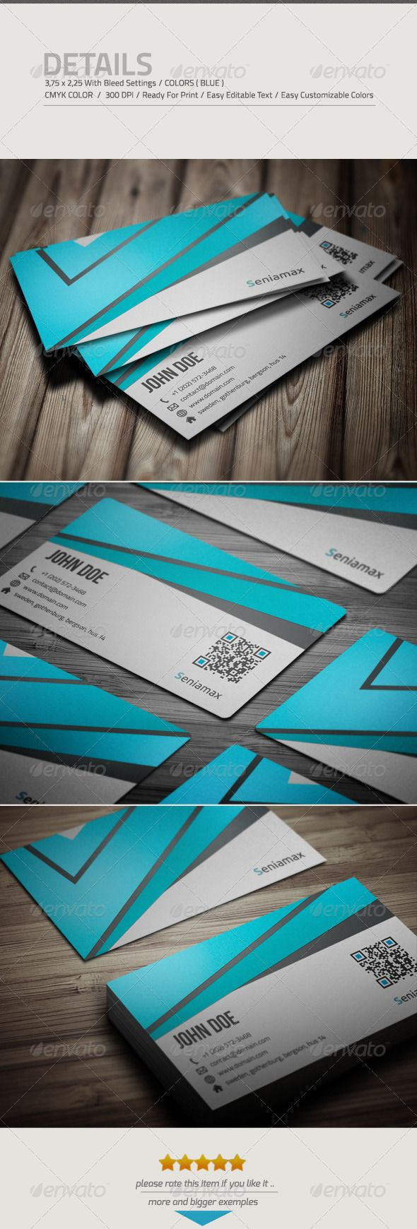 Corporate Business Card #GraphicRiver • the file include 2 ...
