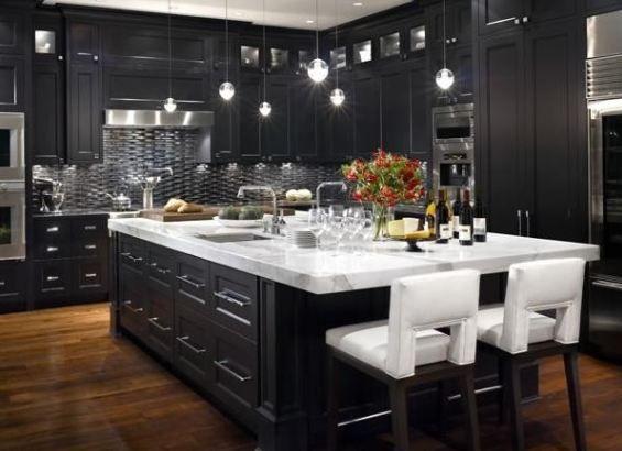 Black White Kitchen Classy Interior Design Loves