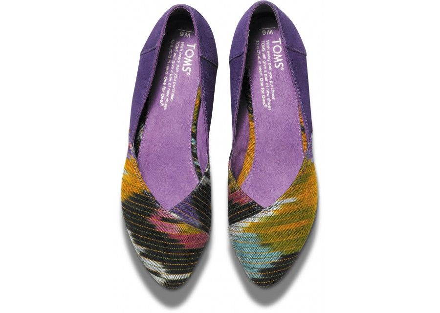 20a16bc0f Purple Multi Women's Jutti Flats top. I can wear these with so many  outfits! #Toms #InLove
