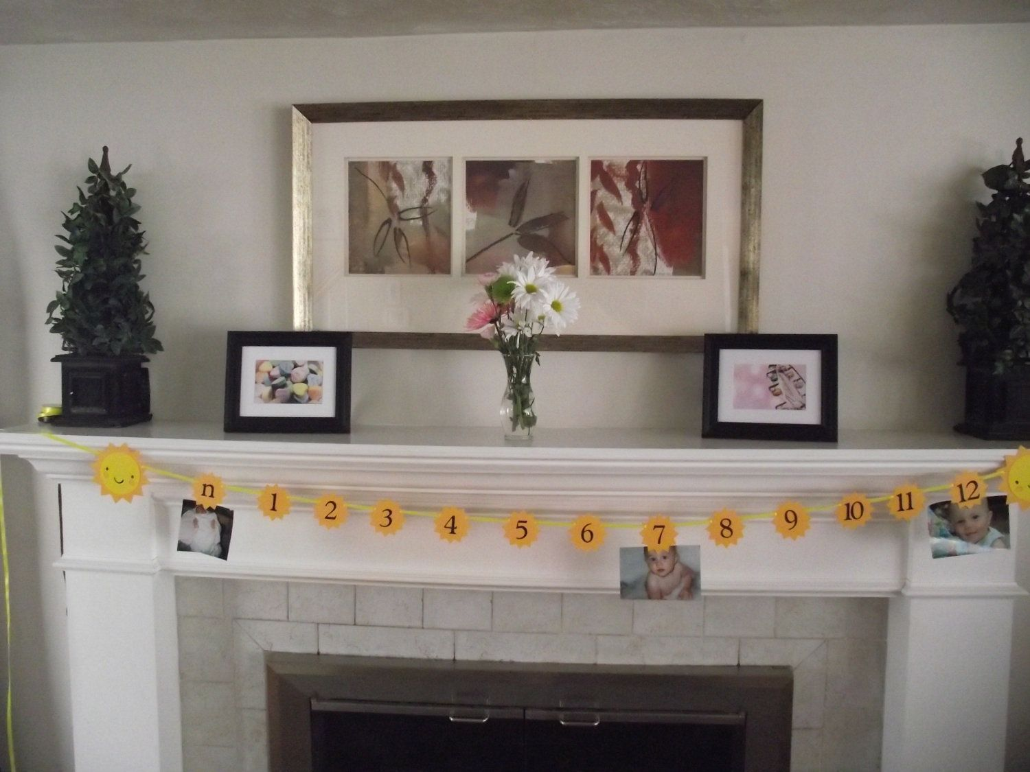 Childs First Year Picture Banner - Sunshine theme - You are my sunshine, Birthday Girl, Birthday Boy, Sun, Birthday Party Ideas