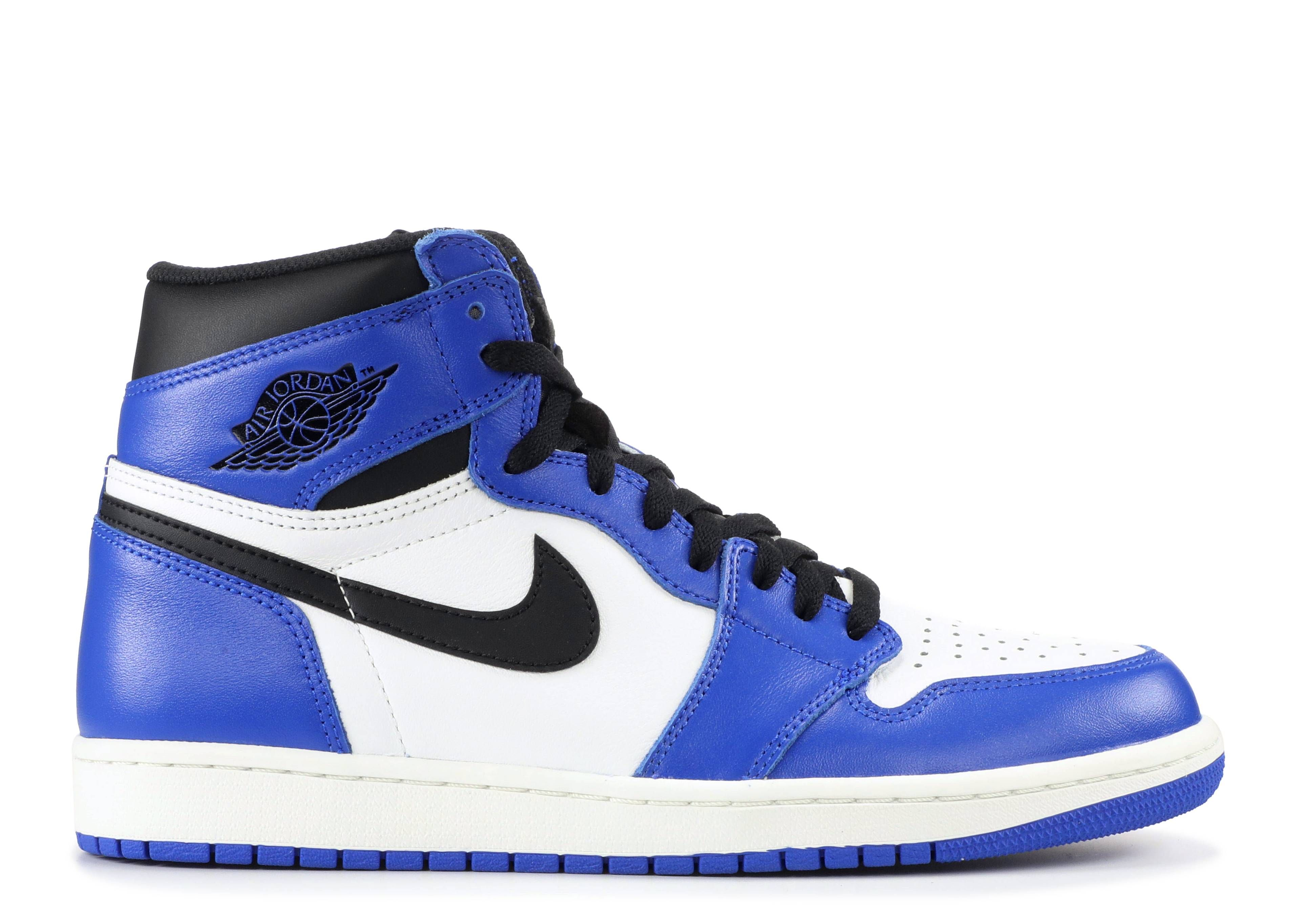 2017 Nike Air Jordan 1 Nike Retro High Og Royal Blue Pin On Shoes