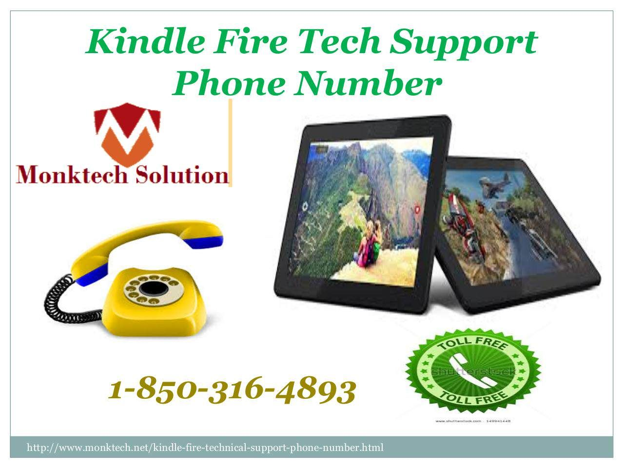 Where to find amazon kindle fire tech support phone number 1 850 316