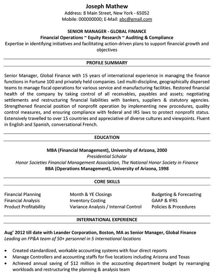 Accounting cv samples accountant resume accountant cv