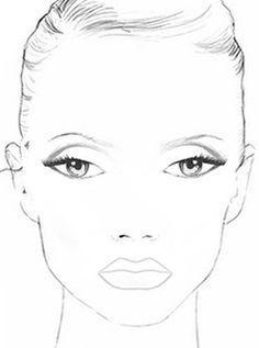 Print Blank Makeup Face Chart … | Makeup face charts, Face ...