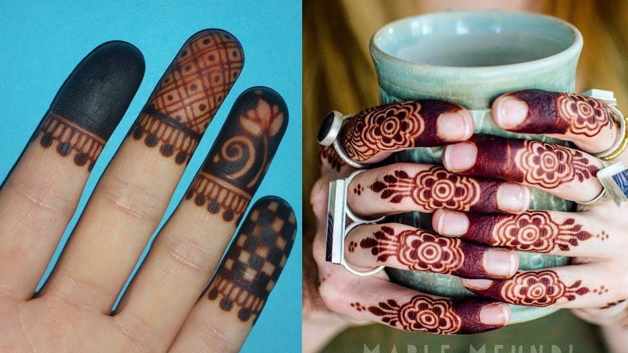 Classic front and back hands fingers mehndi designs