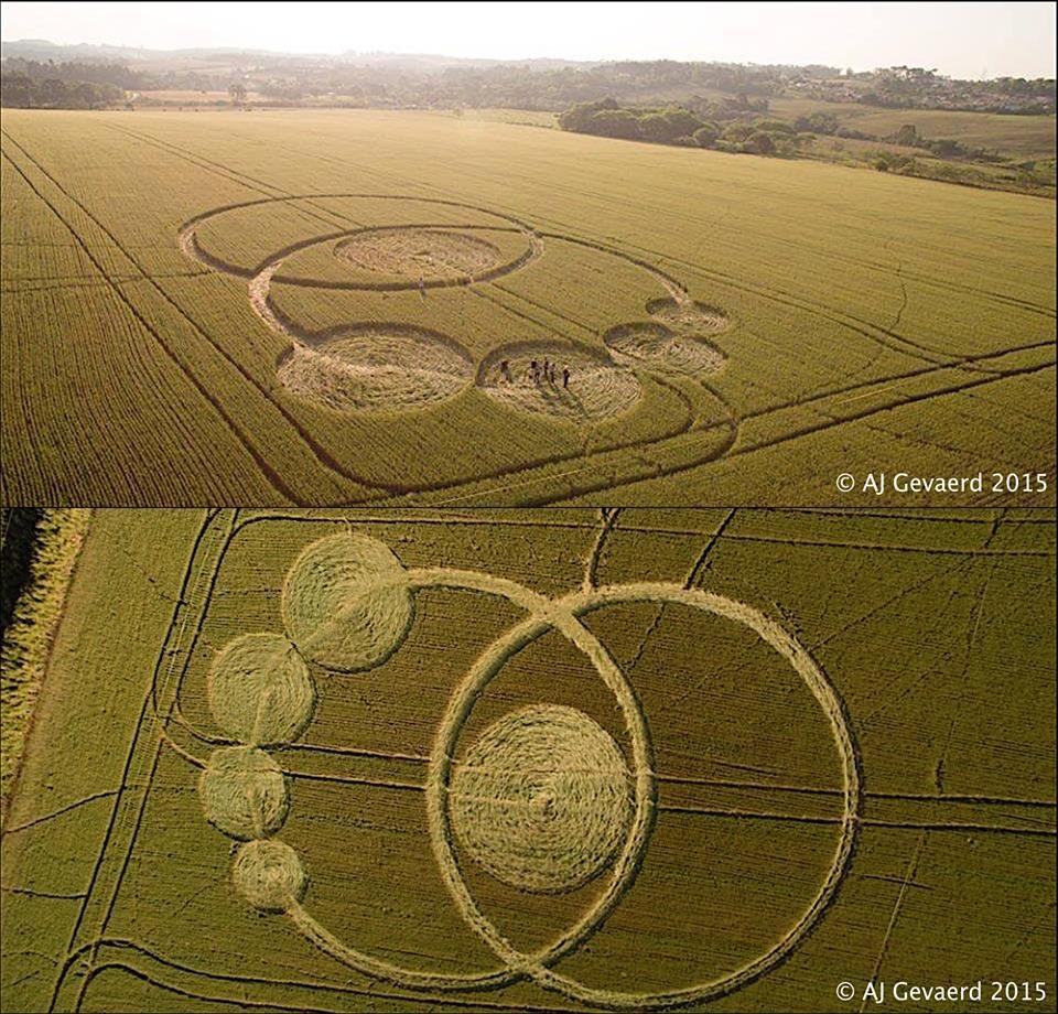 Este Crop Circle surgiu no sul do Brasil, em Prudentópolis (Paraná), no dia 07 de outubro de 2015!