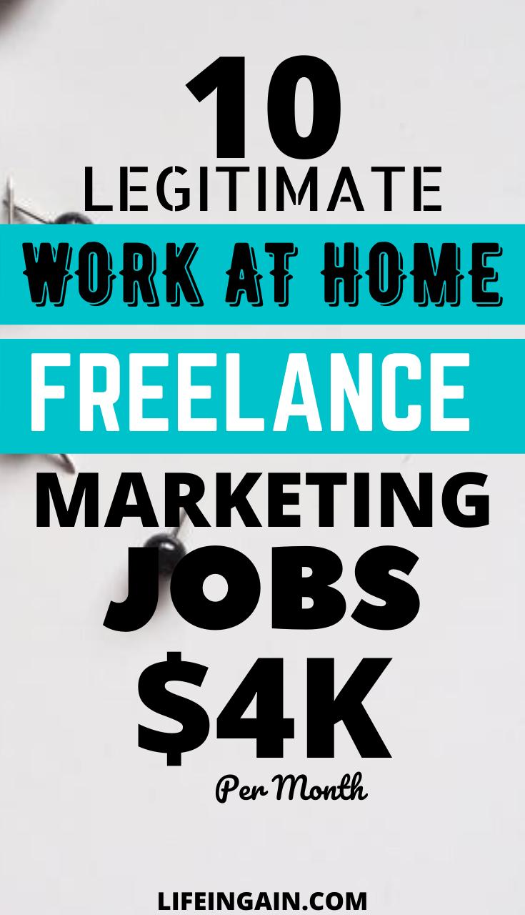10 Legitimate Work At Home Freelance Marketing Jobs In 2020 Marketing Jobs Freelance Marketing Working From Home