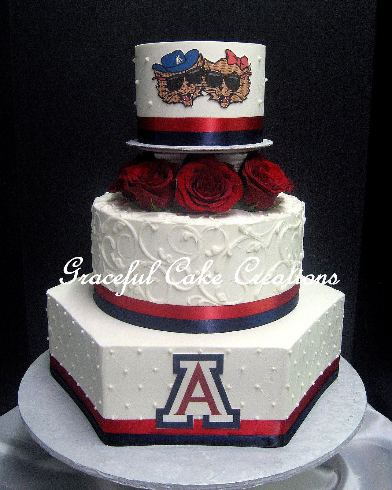 Wedding Invitations Tucson: University Of Arizona Themed Wedding Cake With Mascots