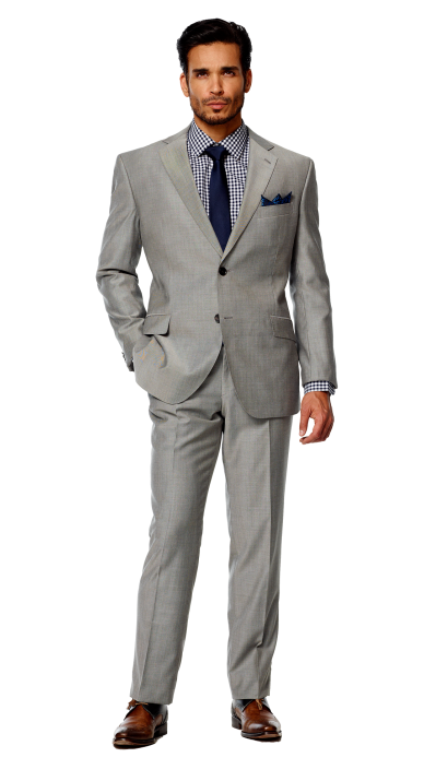 Black Lapel - Solid Light Gray Suit | Groomsmen | Pinterest ...