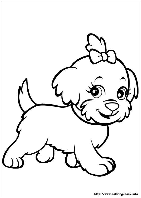 Polly Pocket coloring picture | kids stuff | Pinterest | Vorlagen