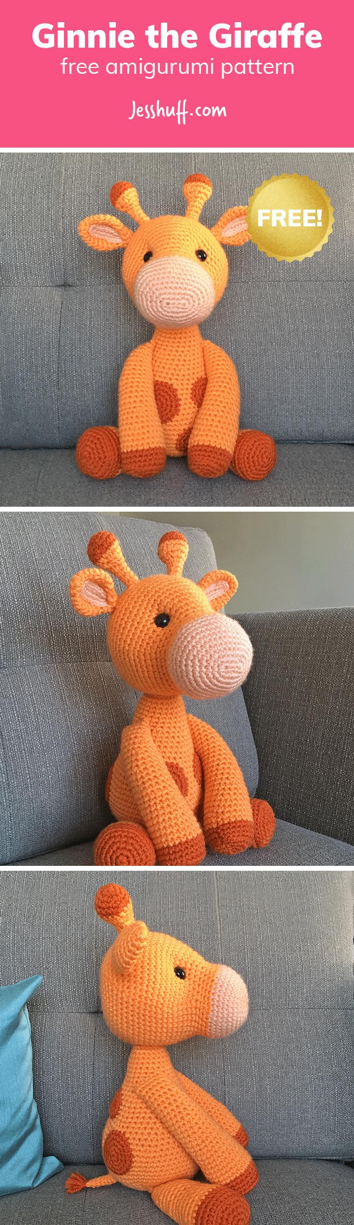 Ginnie the Giraffe Free Amigurumi Pattern | giraffes | Pinterest ...