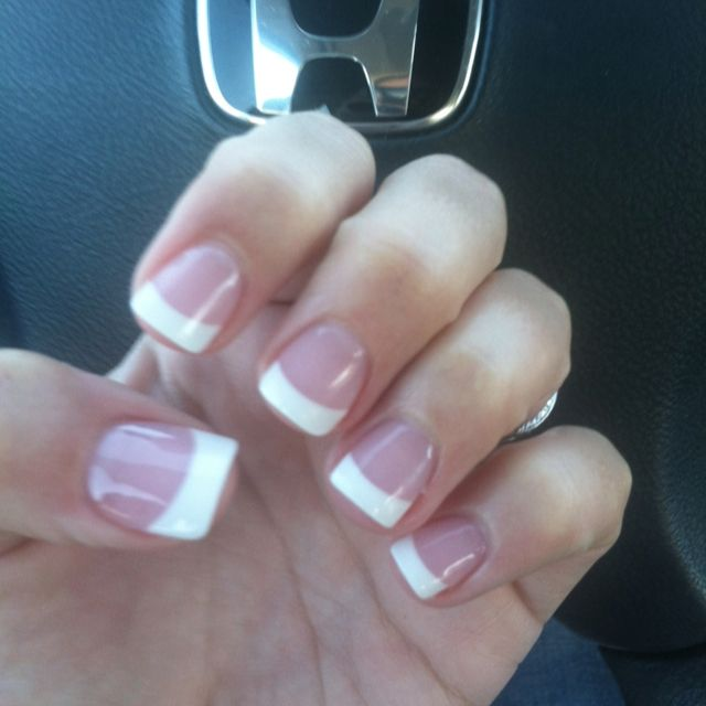 Short French Acrylic Square Nails Love Square Acrylic
