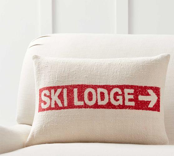 Ski Lodge Grainsack Lumbar Pillow Cover Lumbar Pillow