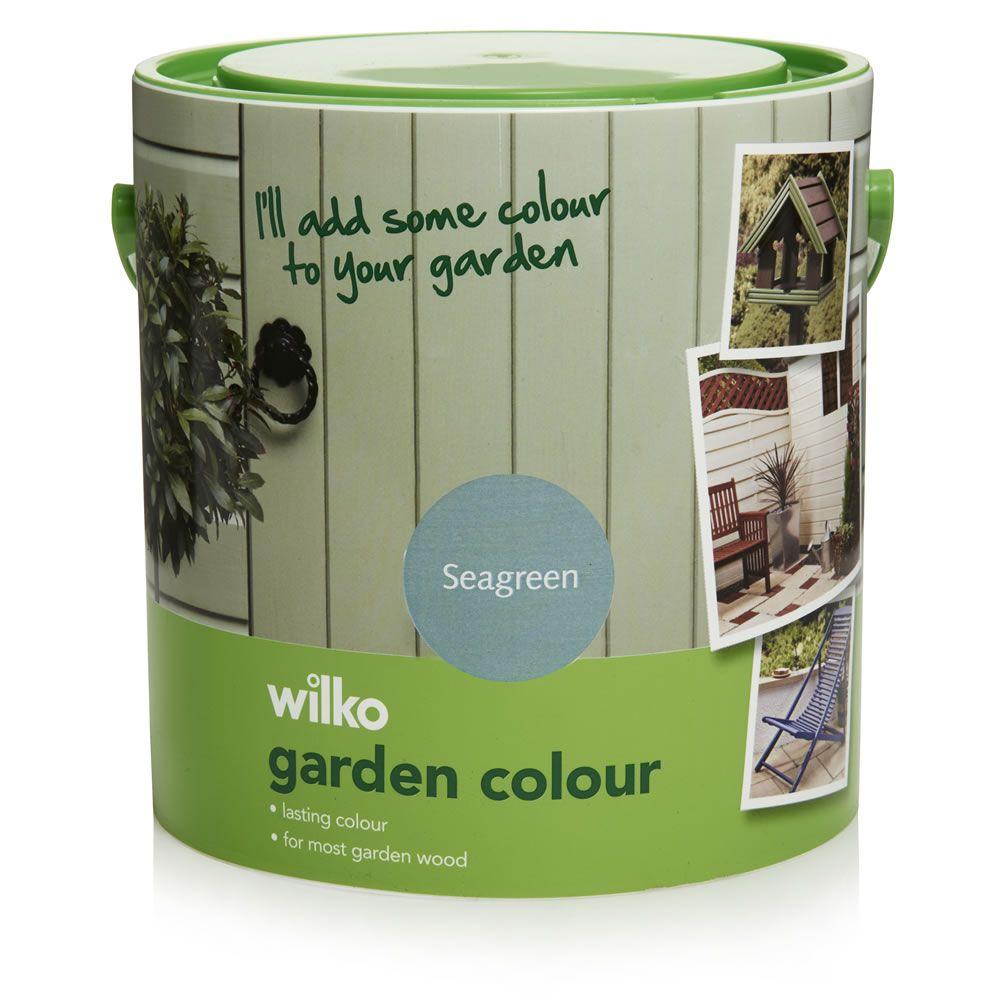 garden colour sea green exterior paint 2 5l beach garden. Black Bedroom Furniture Sets. Home Design Ideas