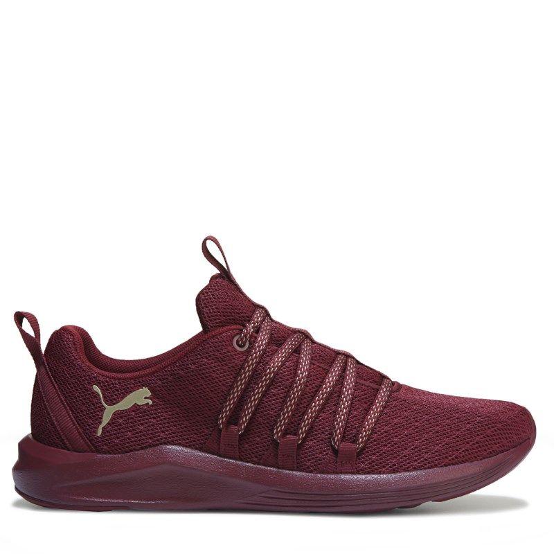 Puma shoes women, Burgundy sneakers