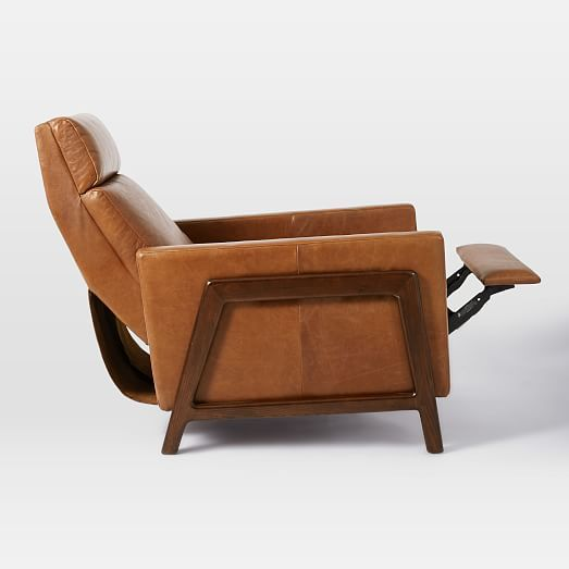 Spencer Wood Framed Leather Recliner & Spencer Wood Framed Leather Recliner | west elm | Rustic decor ... islam-shia.org
