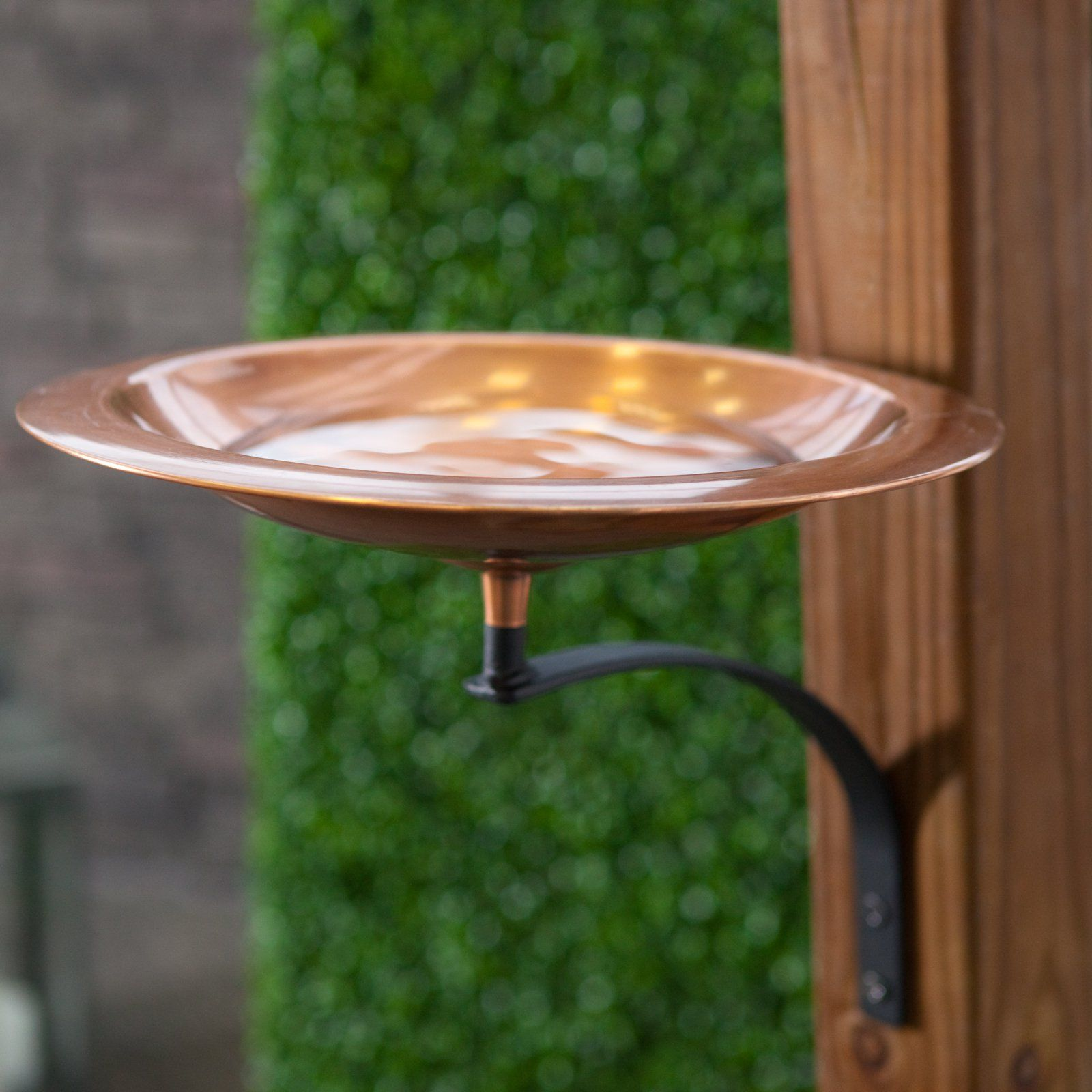 Classic Copper Bird Bath Bowl with Wall Mount Bracket - MA646 ...