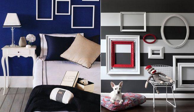 Una idea original: decora con marcos vacíos | decoracio parets ...