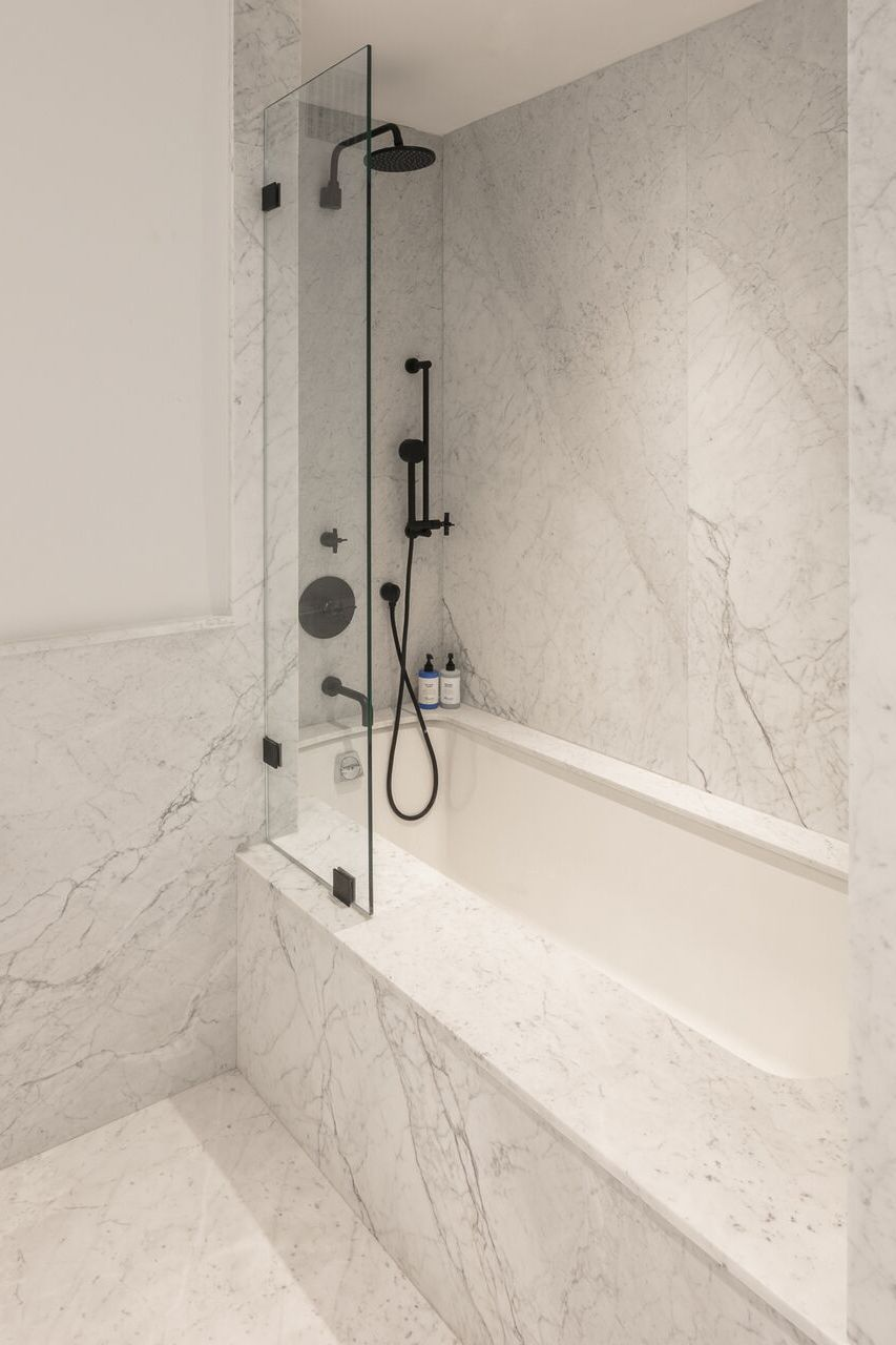 Exposed plumbing is a MAJOR bathroom trend this year. in