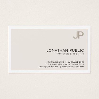 Professional modern elegant color monogram business card professional modern elegant color monogram business card consultant business job profession diy customize reheart Choice Image