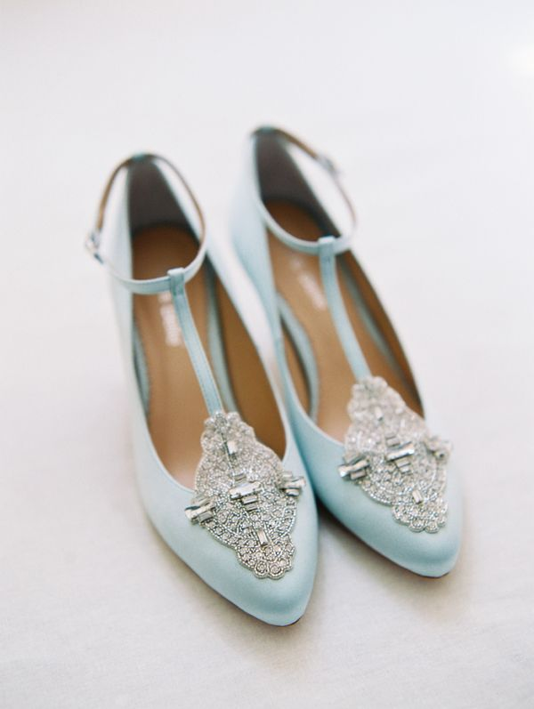 Something Blue Art Deco Inspired Comfortable Low Heel Wedding Shoes By Bella Belle Photography