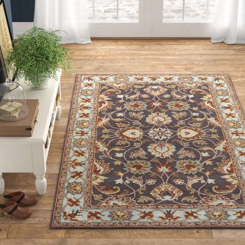 Massima Oriental Handmade Tufted Wool Charcoal Area Rug In 2021 Area Rugs Rugs Green Area Rugs