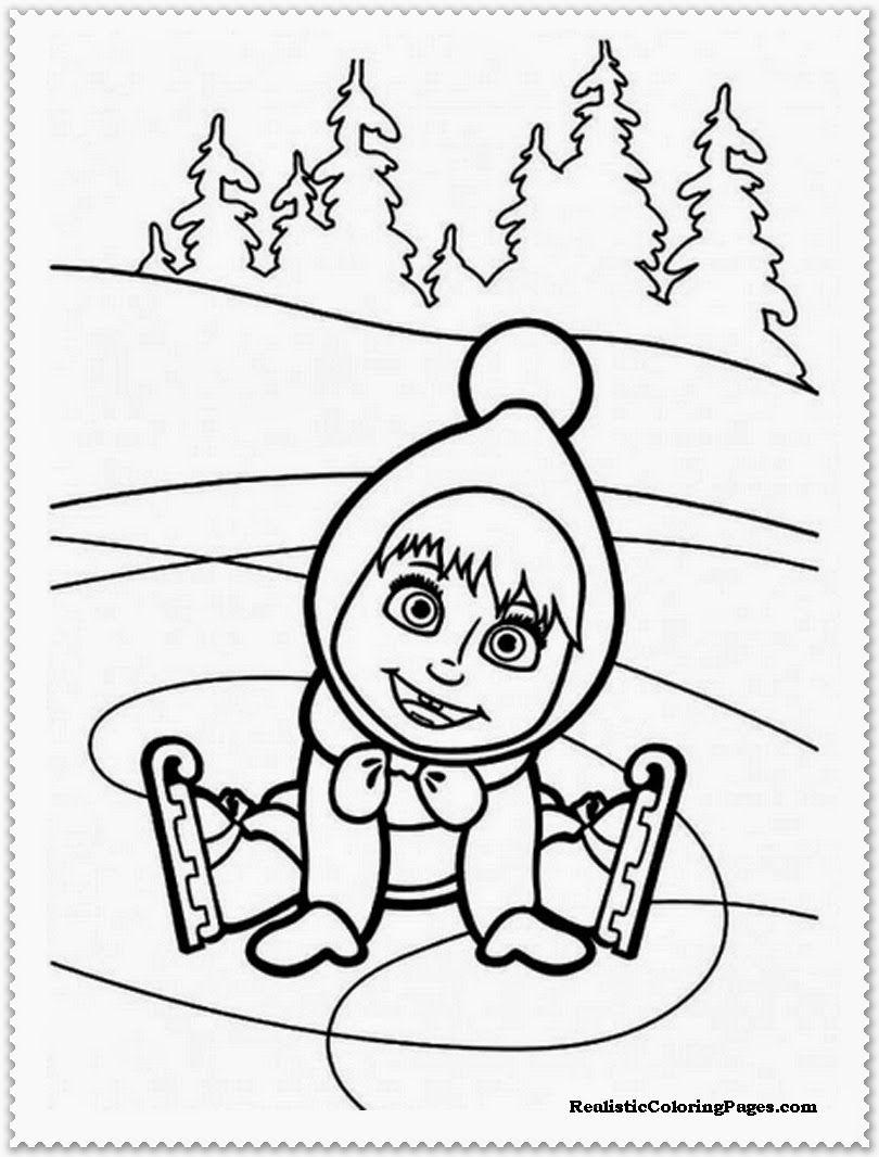 Masha Coloring Page