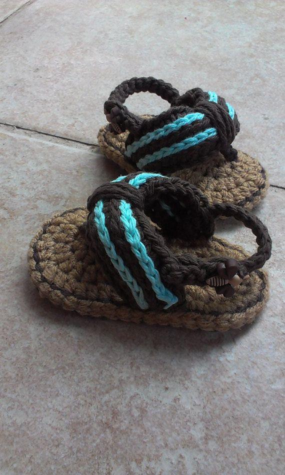 Crochet Baby flip flops, Baby Flip Flops, Crochet Baby Shoes ...