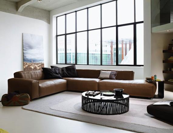 leren bank Interieur design by nicole  Woonkamer